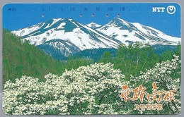JP.- Japan, Telefoonkaart. Telecarte Japon. TELEPHONE CARD - 105-271-193 -. 2 SCANS - Mountains