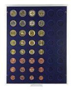 Lindner 2506M Box Monnaies Marine Pour 6 Séries €-courantes-Gris / Plateau Bleu - Zubehör