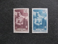 B). TB Paire N° 386 Et 387, Neufs XX. - France