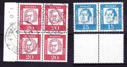 1964 Bed. Deutsche, Bach & Luther, Waagr. Paare, Michel: € 70 - BRD