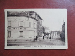 CPA 78 BONNIERES SUR SEINE RUE DE LA GARE HOTEL DE LA POSTE - Bonnieres Sur Seine