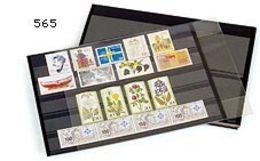 PRINZ Steckkarten Schwarz, 210 X 148 Mm, 6 Streifen, 50 Stück - Classificatori