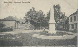 WESTERLO - WESTERLOO : Monument Boerenkrijg - RARE CPA - Cachet De La Poste 1916 - Westerlo