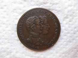 Médaille MARIAGE DU PRINCE LEOPOLD DE SAXE-COBOURG Avec LA PRINCESSE DE GALLES 2 MAI 1816 - Royal / Of Nobility