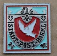TIMBRE DE LA COLOMBE BLANCHE - STADT POST BASEL - POSTE VILLE DE BALE - 2 1/2 Rp  - SWISS - SUISSE - SCHWEIZ   -   (19) - Mail Services