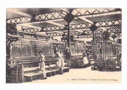 Saint Etienne. Intérieur D'un Atelier De Tissage. (2164) - Industrie