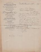 76 1236 Z DEVILLE LES ROUEN SEINE INF 1897 Trituration De Bois J. DAIGUILLON Succ E. DIJON Campeche Espagne Haiti Bresil - 1800 – 1899