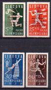 Lituanie N° 365a à 365D Neufs * - Cote (2005) 70€ (jamborée, Scoutisme) - Lithuania