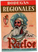 Etiqueta  Bodegas Regionales Coñac Rector - Etiquetas
