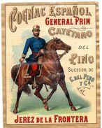 Etiqueta   Cognac Español General Prim. Jerez De La Frontera. - Labels