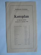 NORDFYNSKE JERNBANE KOREPLAN - DENMARK, DANMARK 1960. 8 PAGES. - Railway