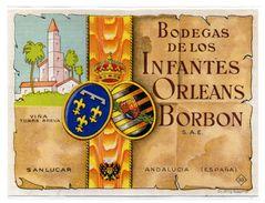 Etiqueta   Bodegas De Los Infantes Orleans Borbon Sanlucar. - Etiquetas