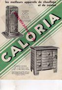 75- PARIS- RARE CATALOGUE CALORIA-CHAUFFAGE CENTRALE CHAPPEE-CUISINE-FONDERIE 6 RUE CAMBACERES-POELES CUISINIERES- 1934 - Petits Métiers