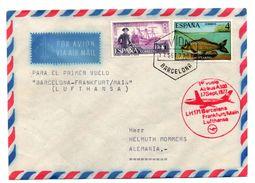 Carta Con Matasello Commemorativo 1er Vuelo Frankfurt /main. 1977 Circulada - 1931-Hoy: 2ª República - ... Juan Carlos I