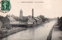 CPA - 62 - VITRY-EN-ARTOIS- Vue De La Scarpe - A Gauche L'usine - Vitry En Artois