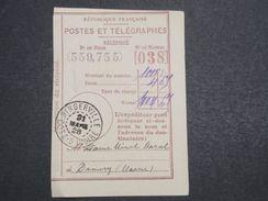 COTE D 'IVOIRE - Récépissé De Mandat De Bingerville En 1928 - L 10318 - Côte-d'Ivoire (1892-1944)