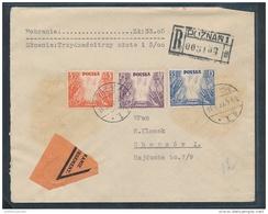 Polen R.-Brief-Beleg ( Ze5478 ) Siehe Scan - 1919-1939 Republik