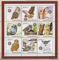 Guinea-Bissau 1437-1445 Sheetlet Unmounted Mint / Never Hinged 2001 Birds - Guinea-Bissau