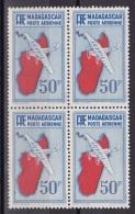Madagascar N°PA40 En Bloc De 4 Neuf Sans Charnière - Madagascar (1889-1960)