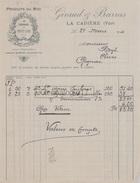 83 285 Z LA CADIERE VAR 1914 Produits Du Midi GIRAUD - BARRAS Capres Fruits Secs A HEYL De GIGNAC 34 - 1900 – 1949