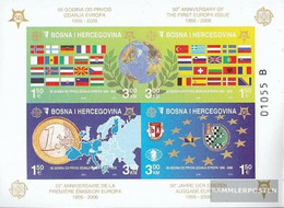 Bosnia-Herzegovina Block27B (complete Issue) Unmounted Mint / Never Hinged 2005 50 Years Europe Trade - Bosnia And Herzegovina