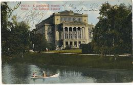 Riga     Das Deutche Theater  P. Used Riga 1914 Stamp Removed Edit Hebensperger - Lettonie