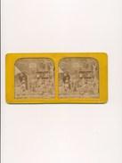 Photo Carte Plaque Vue Stéréoscopique Stéréoscope Stéréo  LE LABORATOIRE DE SATAN   Squelette  ( Satirique Satanique ) - Stereoscoop
