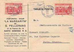 Carte Dominicaine Santo Domingo Parfumeria La Margarita Pour Paris - Dominicaine (République)