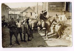 Suisse Army - Cavalerie à Cheval  - Photo - Ste.Croix 1945 - Guerre 1939-45