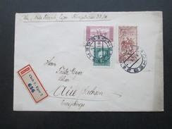 CSSR 1935 R-Brief Cheb 2 - Eger 2 656. Bahnpoststempel Plauen (Vogtl.) - Eger Zug 2093 - Tschechoslowakei/CSSR