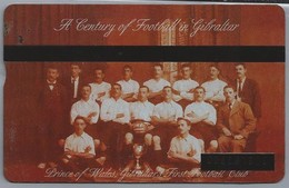 Gibraltar. Telefoonkaart. GNC. Tribute To European Football. A Century Of Football In Gibraltar. Prince Of Wales - Gibraltar