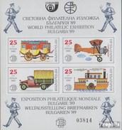 Bulgarien Block 193 (completa Edizione) MNH 1989 Storia Di Servizio Postale - Bulgaria