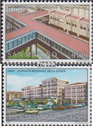 San Marino 1335-1336 (completa Edizione) MNH 1986 Giornata Mondiale Della Salute - Saint-Marin