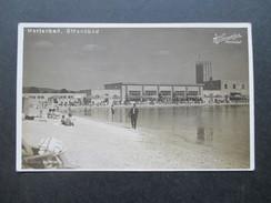 AK / Echtfoto 1929 Tschechien / Sudeten. Marienbad Strandbad. H. Lampalzer. Gastronie Am Strand - Sudeten
