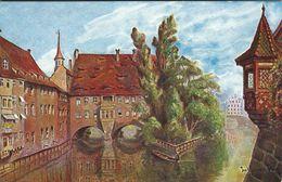 Nürnberg - Patie An Der Museumsbrücke. Sent To Denmark 1936.  Germany.   S-4081 - Nuernberg