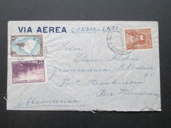 Argentinien 1940 Via Aerea Condor Lati - Post Steinkirchen Bez. Hamburg. Zensur Der Wehrmacht! Geöffnet - Argentina