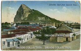 CARTOLINA GIBRALTAR ROCK FROM SPANISH TOWN - Gibilterra