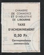 FRANCE Grève 1968 - LIBOURNE (Gironde) Yvert N° 5 (Dallay N° 10) Oblitéré Sur Fragment De Lettre - Strike Stamps