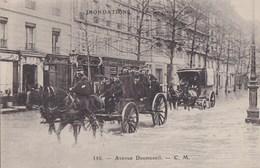PARIS XII Avenue DAUMESNIL  Inondations SEINE 1910 Quartier Inondé ATTELAGES Bien Chargés - District 12