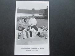Echtfoto AK 1953 Grönland Nr. 34 EF Deres Majestaeter Kongeparret Og Den Lille Prinsesse Anne Marie. Königsfamilie - Briefe U. Dokumente