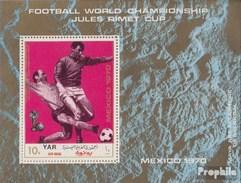 North Yemen (Arab Republic.) Block134 (complete.issue.) Unmounted Mint / Never Hinged 1970 Football-WM, Mexico '70 - Yemen