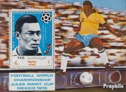North Yemen (Arab Republic.) Block124 (complete.issue.) Unmounted Mint / Never Hinged 1970 Football-WM, Mexico '70 - Yemen