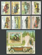 ST THOMAS AND PRINCE 1983 CARS AUTOMOBILES SET & M/SHEET MNH - Sao Tome And Principe