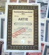 374 Verschiedene HWPs Aus Berlin 1923-1944 Deko - Shareholdings