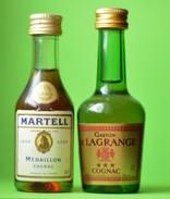 Lot De 7 Mignonnettes - Pastis Ricard Martell Cinzano Gaston De Lagrange - Mignonnettes