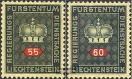Liechtenstein D40y-D41y White Paper Unmounted Mint / Never Hinged 1950 Service Marks - Liechtenstein