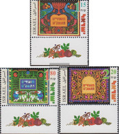Israel 1487-1489 With Tab (complete Issue) Unmounted Mint / Never Hinged 1998 Jewish Holidays - Israel
