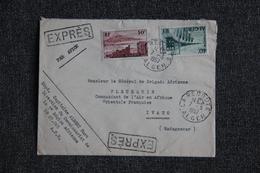 Lettre Exprès D'ALGERIE Vers MADAGASCAR - Argelia (1924-1962)