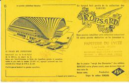 BUVARD - Cahiers RONSARD - Le Palais Des Expositions - Stationeries (flat Articles)