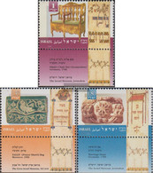 Israel 1345-1347 With Tab (complete Issue) Unmounted Mint / Never Hinged 1995 Jewish Holidays - Israel